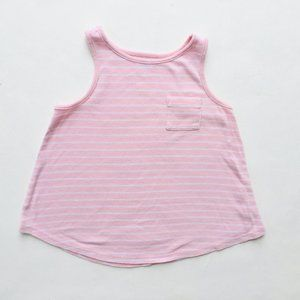 Light Pink w/White Stripe Swing Tank